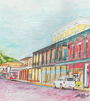 Natchitoches Front Street by Ellen Howell