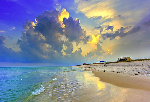 National Seashore Navarre Pensacola Beach Florida Blue Sunset Art Prints by Eszra