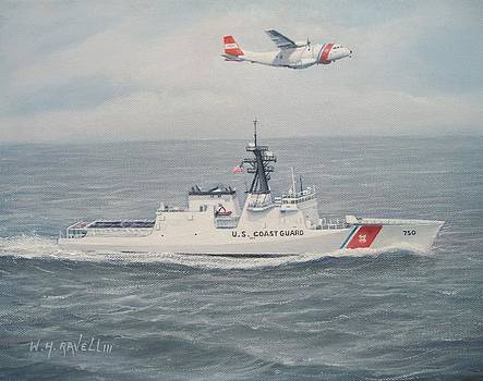 National Security Cutter Bertholf and HC-144A by William H RaVell III