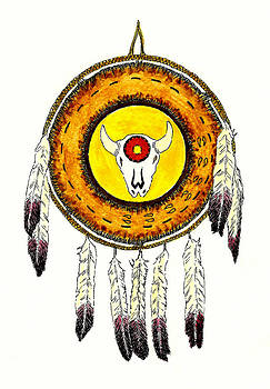 Native American Ceremonial Shield Number 2 by Michael Vigliotti