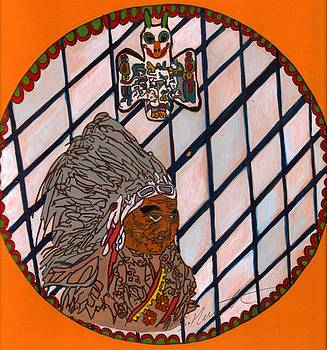 Native American Indian Protector cheif by Sylvia Howarth