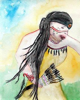 Angela Pari  Dominic Chumroo - Native American Regalia Dance