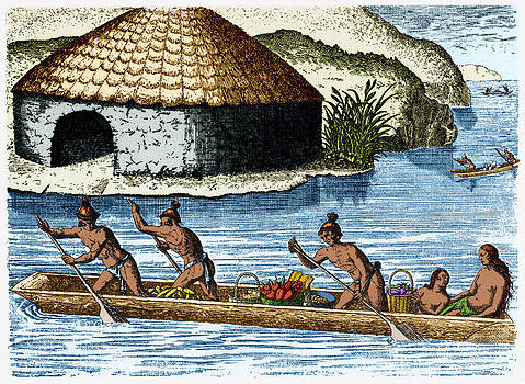 Native Americans Transporting Crops, C by Science Source