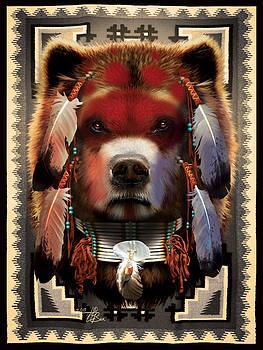 Native Bear Warrior by  Orlando Baca