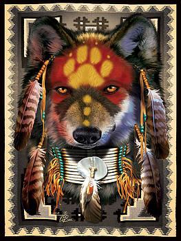 Native Wolf Warrior by  Orlando Baca