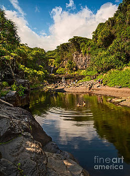Jamie Pham - Natural Pool - the beautiful scene of the Seven Sacred Pools of Maui.