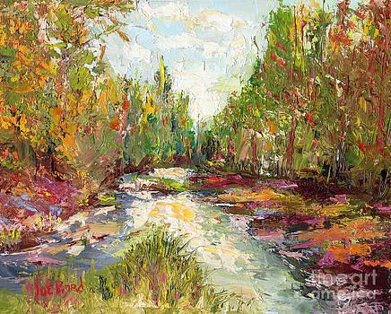 Nature in Color- Palette Knife Oil Painting  By Artist Joe Byrd by Joe Byrd