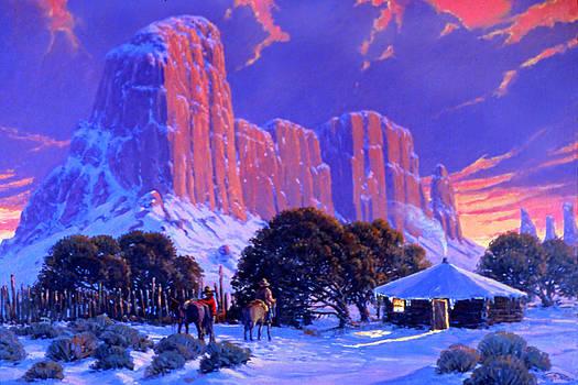 Navajo Sunset by Randy Follis
