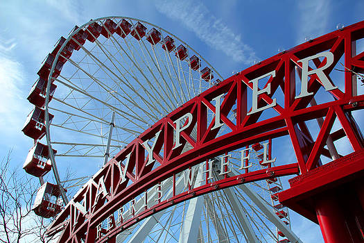 Navy Pier Ferris Wheel by James Hammen