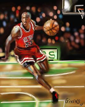 NBA Legend Micheal Jordan by Mark Givens