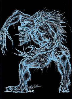 Negative Werewolf by Michael Mestas