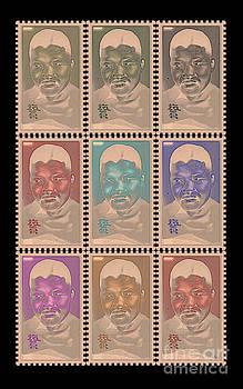 Nelson Mandela - Rainbow Stamps by Geordie Gardiner