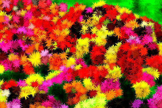 Neon Abstract Flower Garden by Bruce Nutting