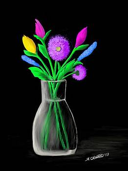 Neon Flowers by Amy Scholten