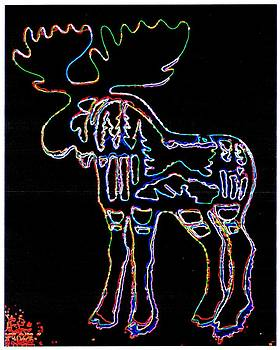 Neon Moose by Larry Campbell