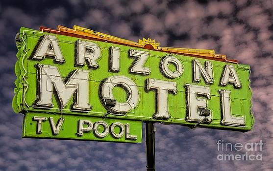 Neon Sign Arizona Motel by Henry Kowalski