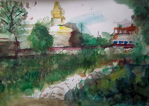 Nepalese Stupa by Carrie Williams