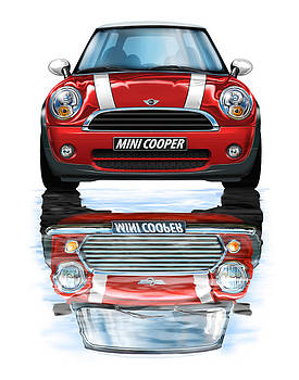New BMW Mini Cooper Red by David Kyte