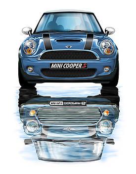 New BMW Mini Cooper S Blue by David Kyte
