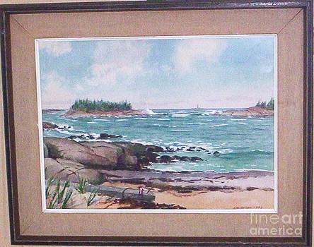 New England Coastal Bay Scene by Albert W Nelson