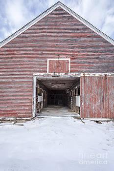 Edward Fielding - New England Red Barn Open Door