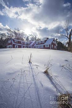 Edward Fielding - New England Red Farm House Winter