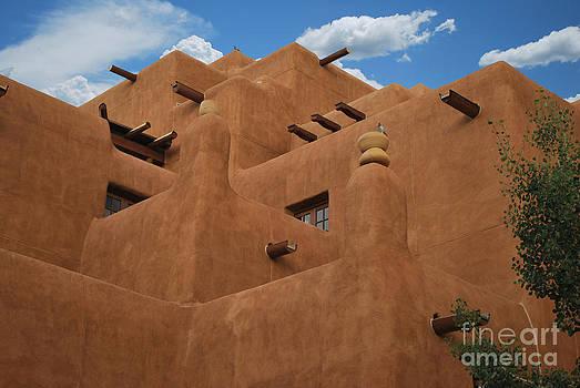 Heather Kirk - New Mexico Adobe Blue Sky Horizontal