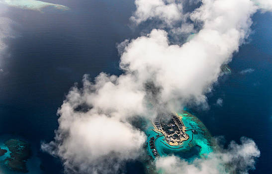 Jenny Rainbow - New Upcoming Resort 2.  Aerial Journey over Maldives