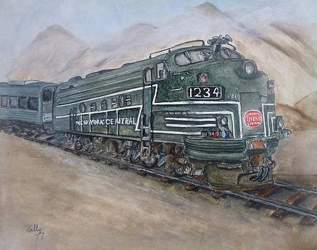 New York Central Train by Kelly Mills
