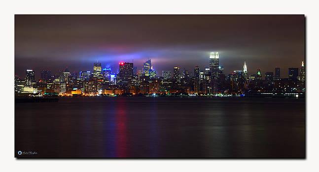 New York City in Fog by Andre Boykin