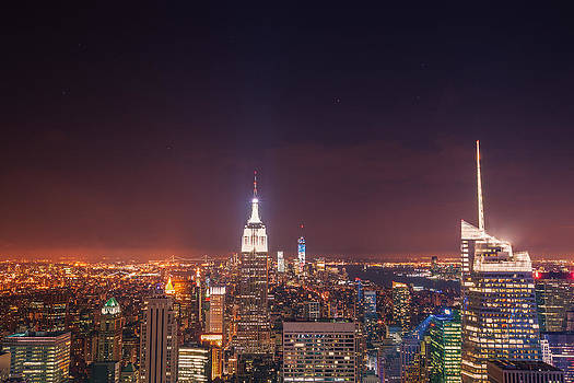 New York City Lights at Night by Vivienne Gucwa