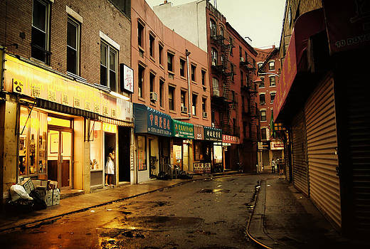 New York City - Rainy Afternoon - Doyers Street by Vivienne Gucwa