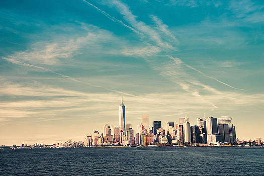New York City - Skyline with One World Trade Center by Vivienne Gucwa