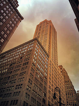 New York City - Skyscraper and Storm Clouds by Vivienne Gucwa