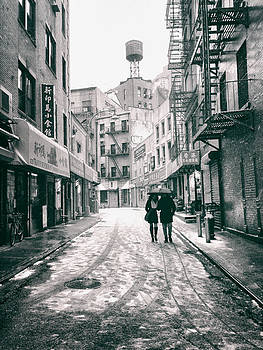 New York City - Snow on a Winter Afternoon - Chinatown by Vivienne Gucwa