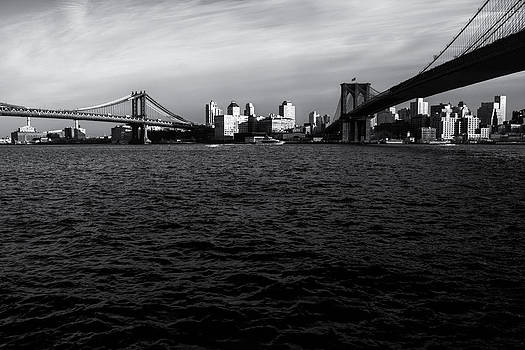 New York City - Two Bridges by Vivienne Gucwa