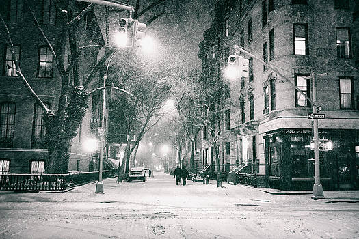New York City - Winter Night in the West Village by Vivienne Gucwa