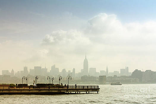 New York City with Empire State Building by Nishanth Gopinathan