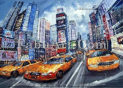 New York Cityscape Painting by FabuArt