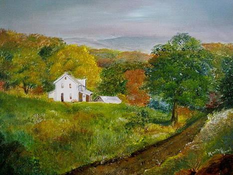 New York Farm House by Martha Efurd