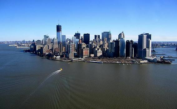 New York from Helicopter by James  Wasdell
