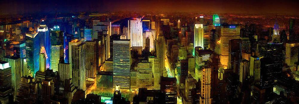 New York Night Light by John Robichaud