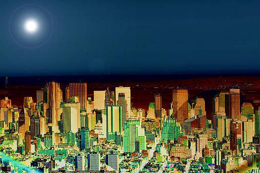 New York Skyline - Dusk by Louise Grant