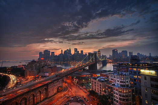 New York Skyline from Brooklyn HDR by Preston Broadfoot