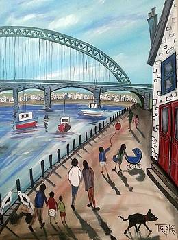 Newcastle Quayside by Trudy Kepke