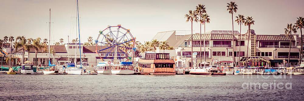 Paul Velgos - Newport Beach Fun Zone Retro Panorama Photo