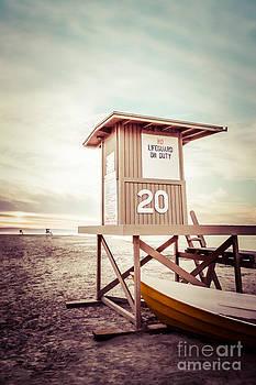 Paul Velgos - Newport Beach Lifeguard Tower 20 Vintage Picture