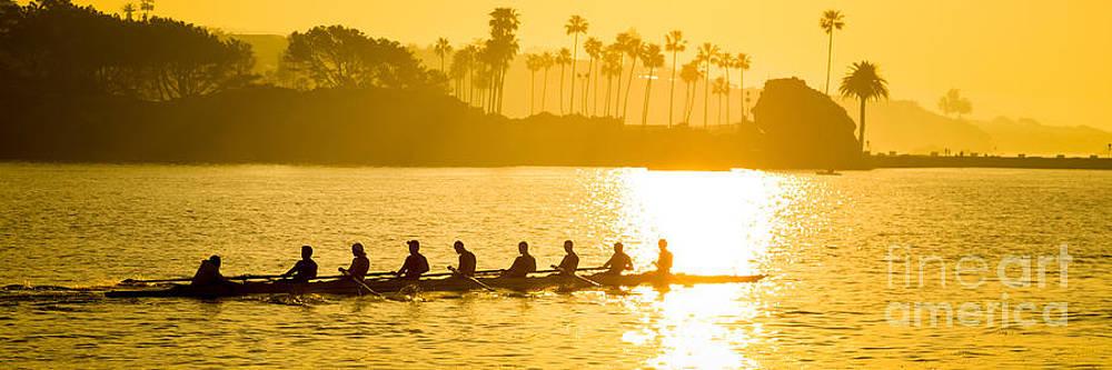 Paul Velgos - Newport Beach Rowing Crew Panorama Photo