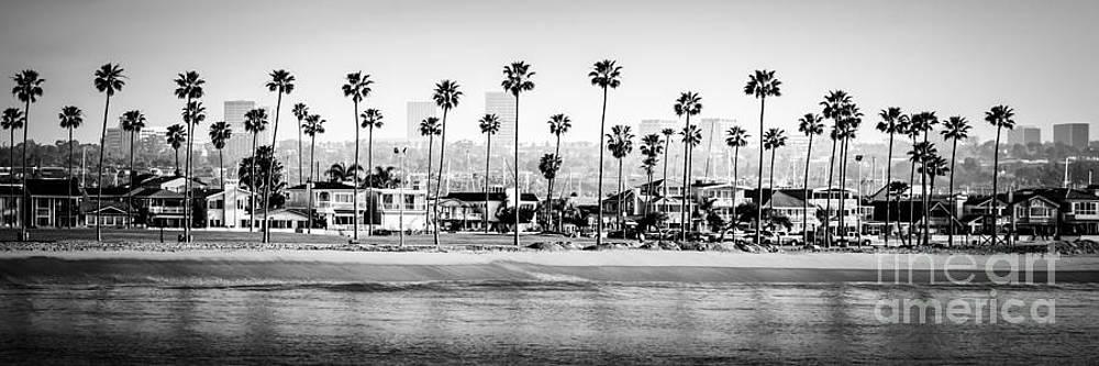 Paul Velgos - Newport Beach Skyline Panorama Photo in Black and White