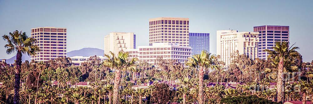 Paul Velgos - Newport Beach Skyline Retro Panorama Photo